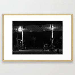 Midnight Fuel Stop Framed Art Print