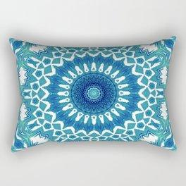Sea Green Mandala Rectangular Pillow