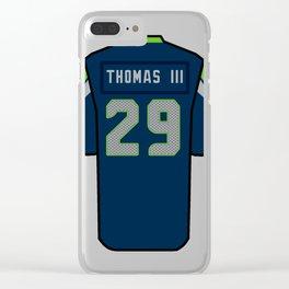 Earl Thomas III Jersey Clear iPhone Case