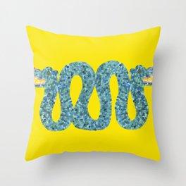 Mayan Snake Throw Pillow