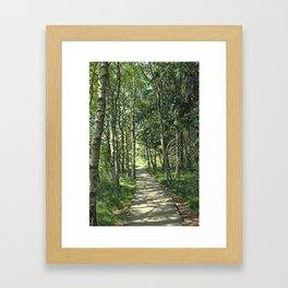 walk in the bog Framed Art Print