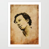 cumberbatch Art Prints featuring Benedict Cumberbatch by theredgrassofgallifrey