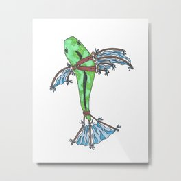 Fly Fish Metal Print