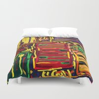piano Duvet Covers featuring Piano by Gabrielle Donofrio