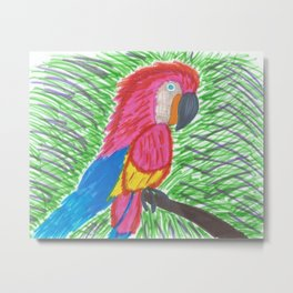 Pink Bird of Paradise Metal Print
