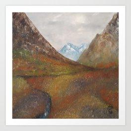 Arran, Scottish landscape by Lu Art Print