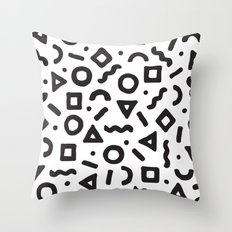 Abstract Pattern 002 - White Throw Pillow
