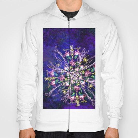 Abstract delicate silk flowers Hoody