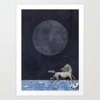 run Art Prints featuring Run by N Li