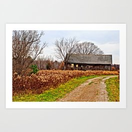 Wisconsin Old Barn 2 Art Print