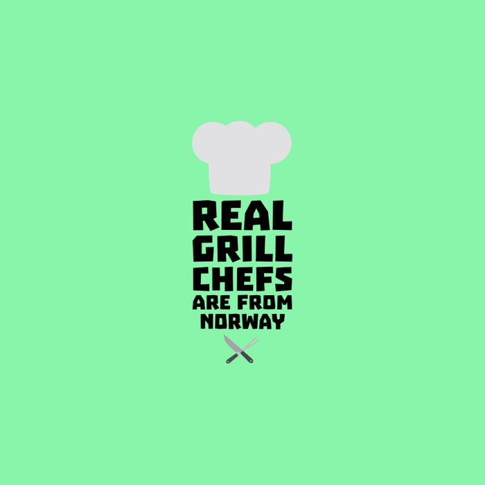 Real Grill Chefs are from Norway T-Shirt D8cv1 Duvet Cover