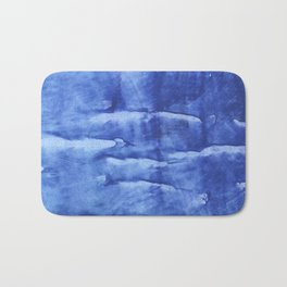 Corn flower blue abstract wash drawing painting Bath Mat