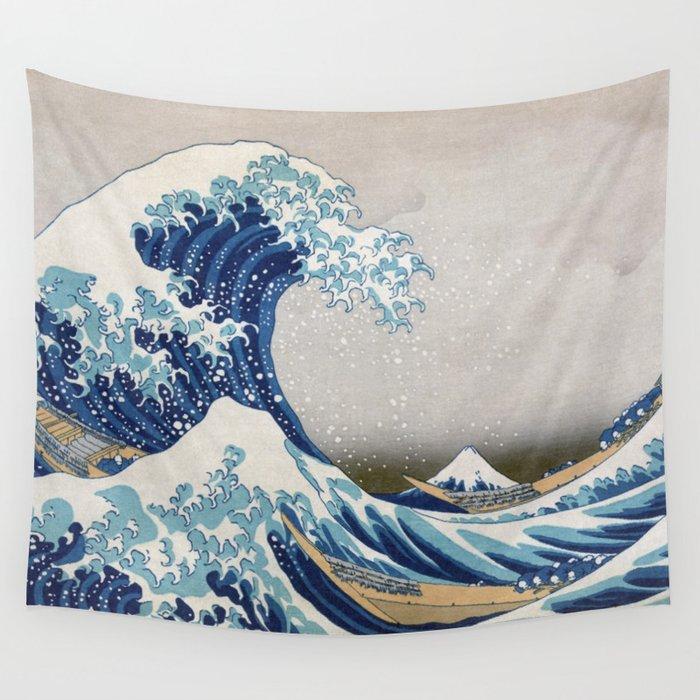 Under the Wave off Kanagawa - The Great Wave - Katsushika Hokusai Wall Tapestry
