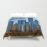 chicago Duvet Covers featuring Chicago by gypsykissphotography