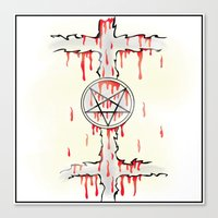 pentagram Canvas Prints featuring Pentagram by Anca Avram