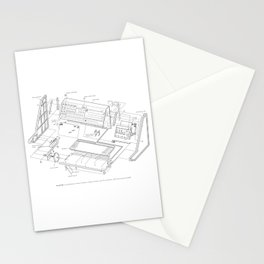 Korg MS-20 - exploded diagram Stationery Cards