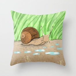 Schnecke 2 Throw Pillow