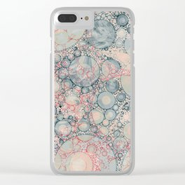 Vintage Bubble Cell Pattern Abstract Clear iPhone Case