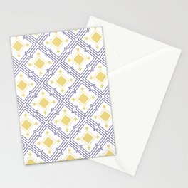 Mediterranean Tiles Blue and Yellow Stationery Cards