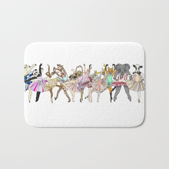 Animal Ballerinas Bath Mat