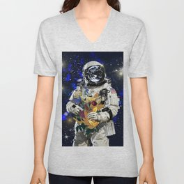 Spaceman's Invitation Unisex V-Neck
