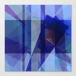 A splash of blues Canvas Print
