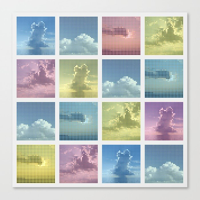 Sky ~ Matrix Canvas Print