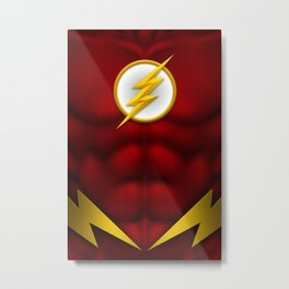 Flash: Superhero Art Metal Print