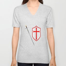 Crusaders Sword and Shield Unisex V-Neck