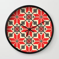 ukraine Wall Clocks featuring Folk Ukraine  by florenceK