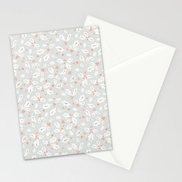 Festive Christmas Holly Leaves Stationery Cards