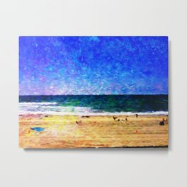 Mission Beach - Help Fund Education for Impoverished Kids in Malawi, Africa @MoreThanAid Metal Print