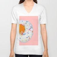 sprinkles V-neck T-shirts featuring Sunny Sprinkles in PINK! by EliseMesner