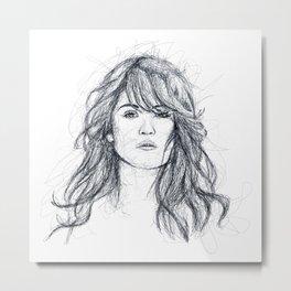 Gemma Arterton Metal Print
