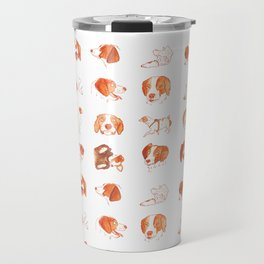 Faces and Poses of a Brittany Spaniel Travel Mug