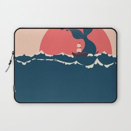 Whale and boat minimalist Laptop Sleeve