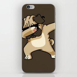 Dabbing Pug iPhone Skin