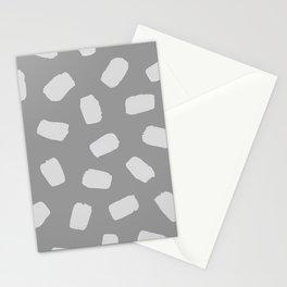 Brushstrokes in Gray Stationery Cards