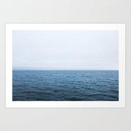 Moody Pacific Ocean Art Print