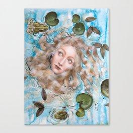 Ophelia Amphibian Canvas Print