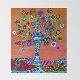 MHURI TREE OF LIFE Throw Blanket