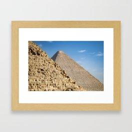 Pyramids of Khufu and Khafre, Giza Framed Art Print