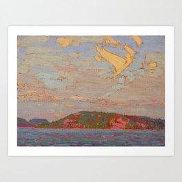 Tom Thomson View over a Lake, Autumn 1916 Canadian Landscape Artist Art Print