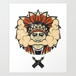 Cloud Chaser - Vaping Native American Art Print