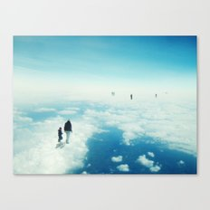 Heaven's already here above the clouds Canvas Print