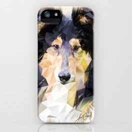 Rough Collie (Low Poly) iPhone Case