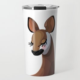 Sweet okapi head. Closed eyes. Travel Mug