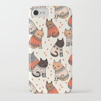 sweater iPhone & iPod Cases featuring Sweater Cats - by Andrea Lauren by Andrea Lauren Design