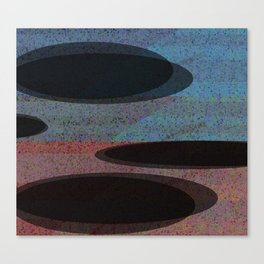 GLITTER eclipses Canvas Print