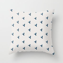 Hummingbird Flight Throw Pillow